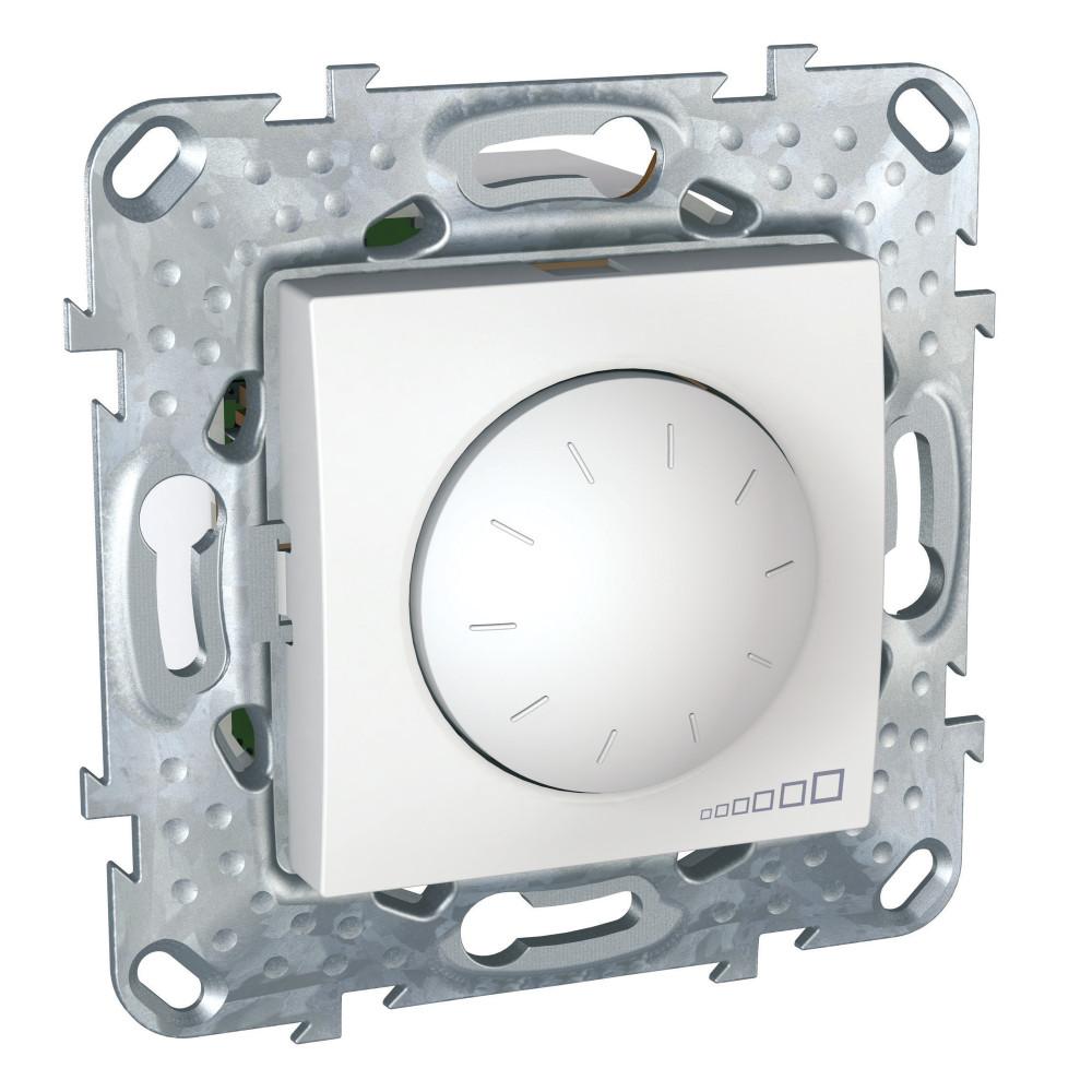 Фото UNICA LED светорегулятор повор-наж, универсальный 4-400 вт, белый {MGU5.513.18}
