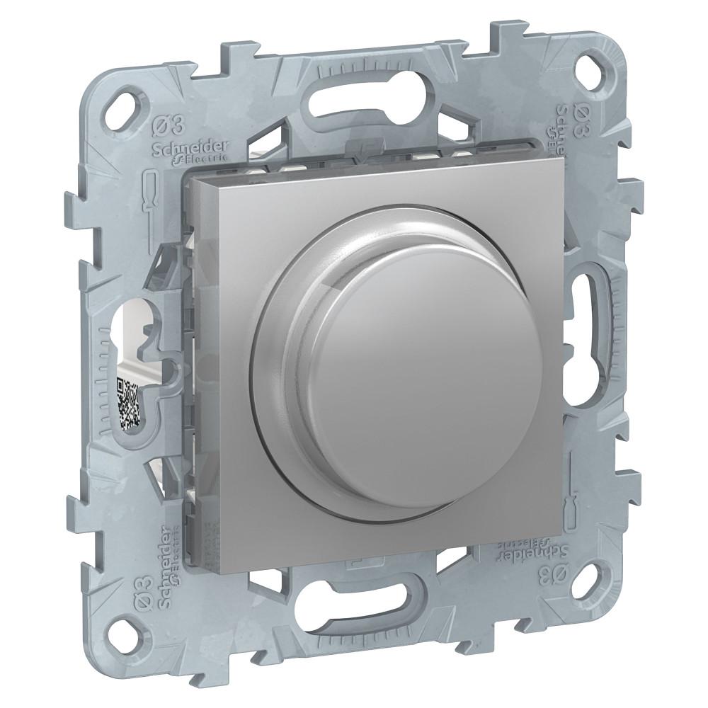 Фото Светорегулятор UNICA NEW LED повор-наж, универсальный 5-200вт, алюминий {NU551430}