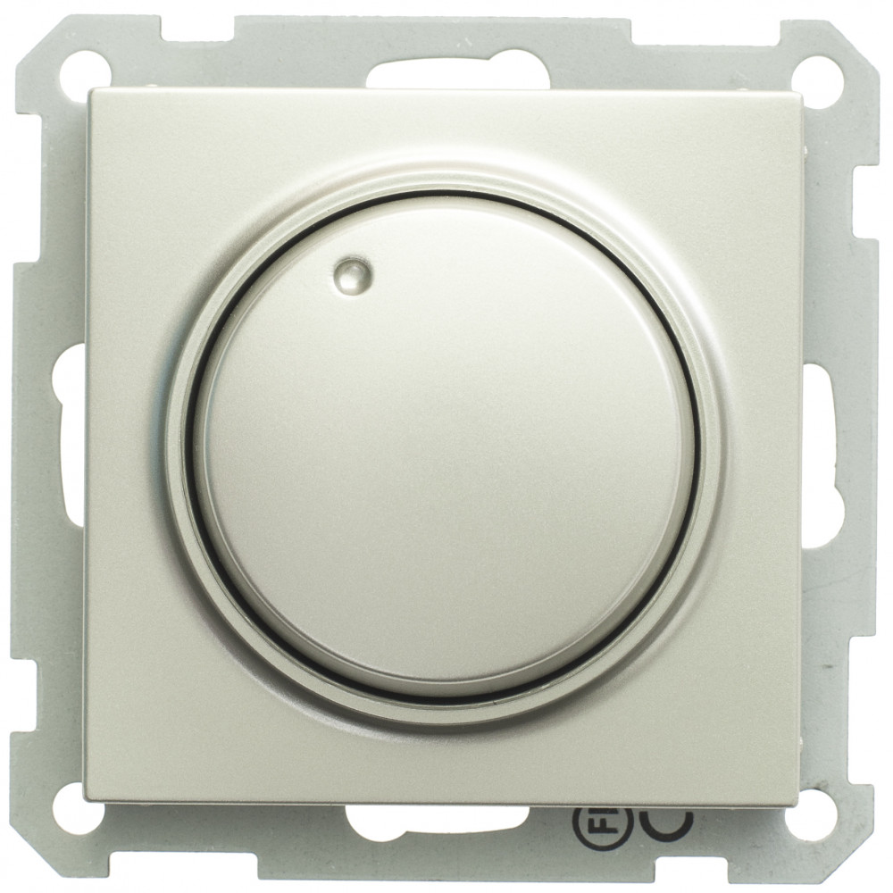 Фото W59 светорегулятор (диммер) поворотный, 300вт, 230в, механизм, шампань {SR-5S0-4-86}