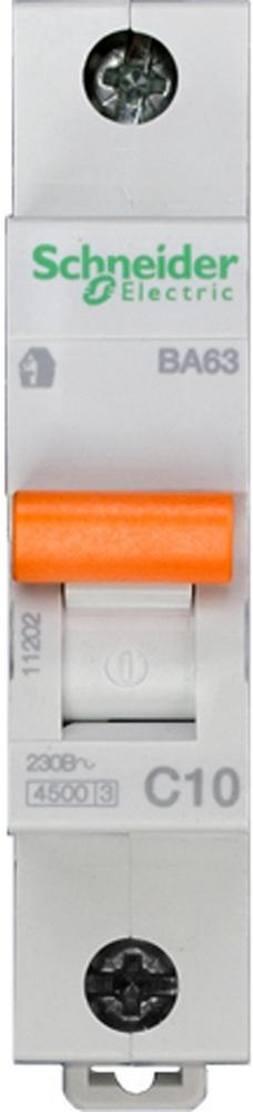 Фото Автоматический выключатель ва63 1п 10A C 4,5 ка, болгария/италия {11202}