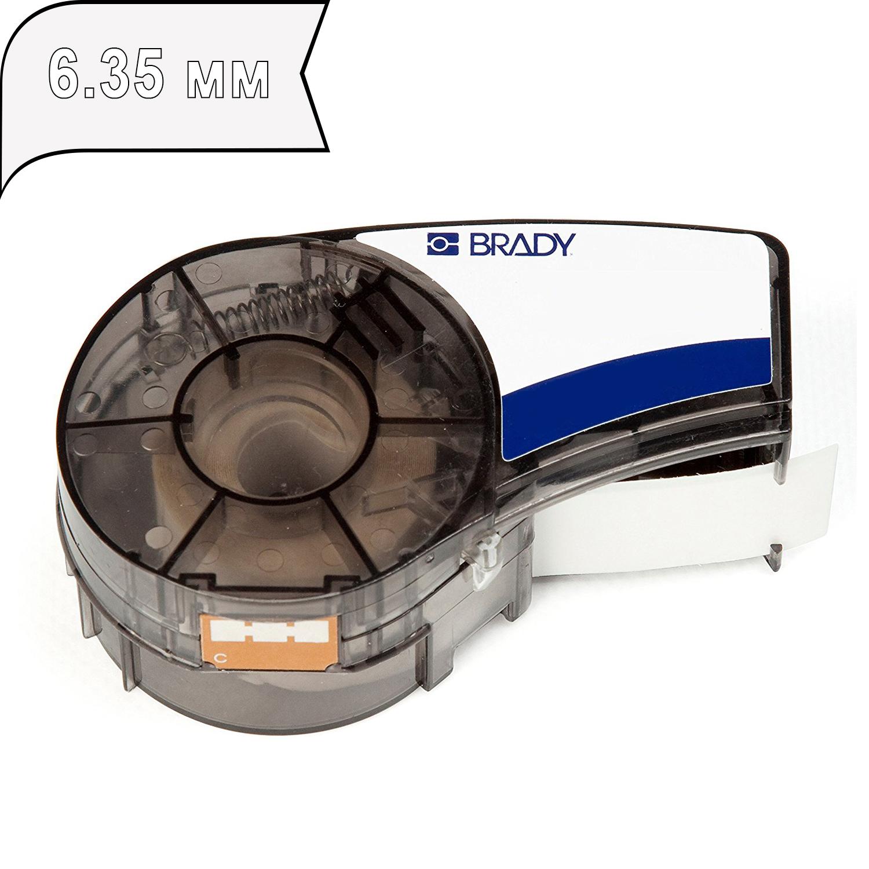 Фото Лента Brady M21-250-430-WT-CL (6.35 мм, белый на прозрачном) {brd139746}
