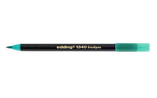 Фото Брашпен Edding E-1340 с гибким наконечником, бирюза {E-1340#14}