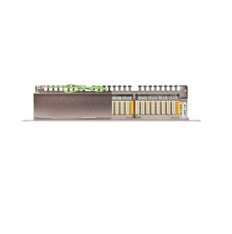 Фото Патч-панель 19дюйм 1U 24 порта кат.6 (класс E) 250МГц RJ45/8P8C 110/KRONE T568A/B полный экран с органайзером метал. NIKOMAX NMC-RP24SE2-1U-MT
