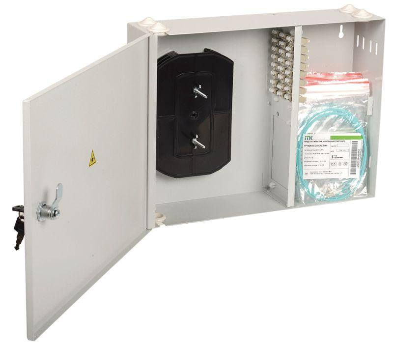 Фото Кросс укомплектованный настенный LC (duplex) 20 портов (OS2) ITK FOBX24-N-20LCUD09