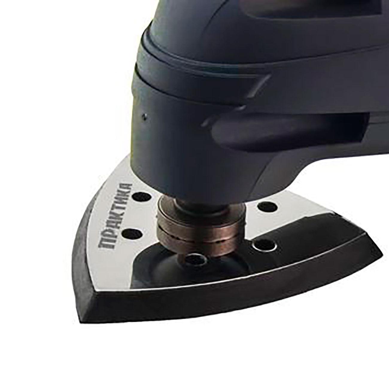 Фото Подошва для шлифлиста Практика, VELCRO, дельта, 6 отверстий, 93 мм {240-416} (2)