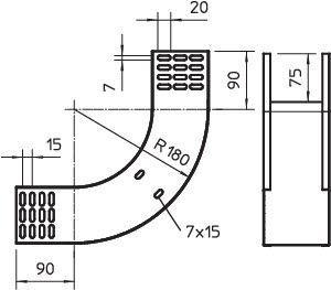 Фото Угол для лотка вертикальный внутренний 90град. 300х85 RBV 830 S FS OBO 7007238