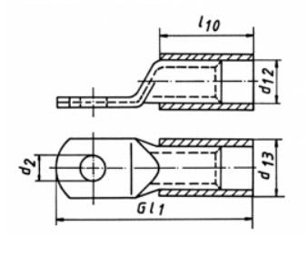 Фото Изолированный трубчатый кабельный наконечник стандарт Klauke 25 мм², под винт М8 {klk604R8} (1)