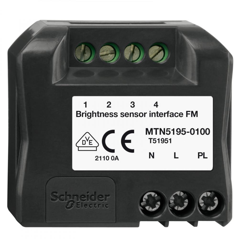 Фото MERTEN D-Life PlusLink интерфейс для подкл. датчика освещенности, скр. монтажа {MTN5195-0100}