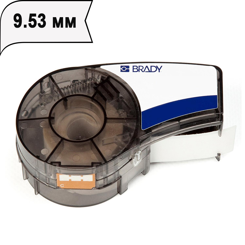 Фото Лента Brady M21-375-430 (PAL-375-430) (9.53 мм, черный на прозрачном) {brd110899}