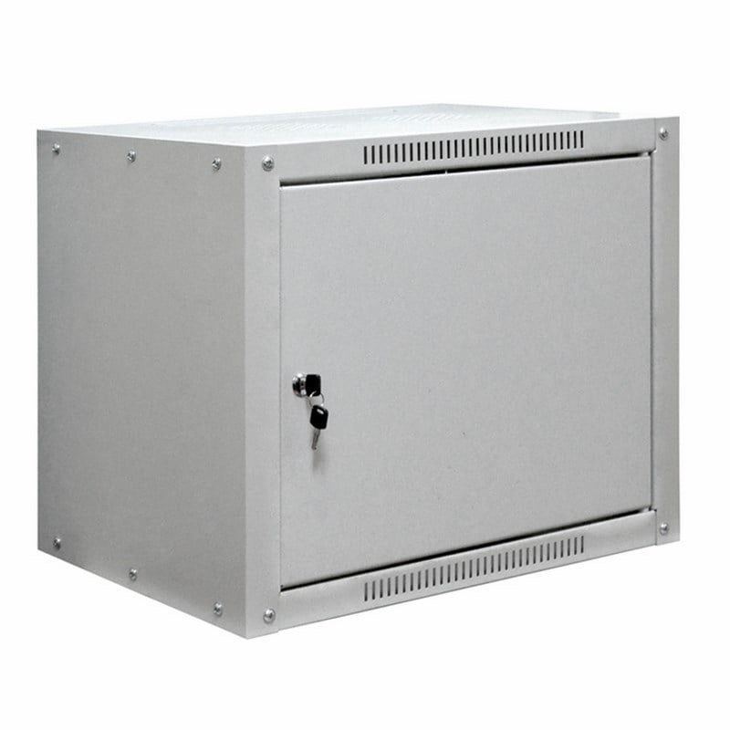 """Фото 19"""" Настенный шкаф Proconnect 9U 600×600×500 - передняя дверь металл {04-2071}"""
