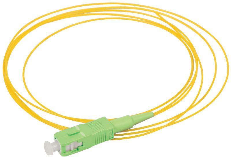 Фото Пигтейл для одномодового кабеля (SM); 9/125 (OS2); SC/APC; LSZH (дл.1.5м) ITK FPT09-SCA-C1L-1M5