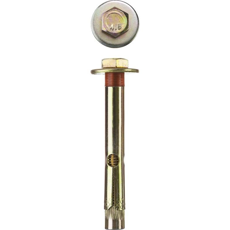 Фото Болт анкерный с пластиковым кольцом, 16х110 мм, 1 шт, желтопассивированный, ЗУБР {4-302316-16-110}