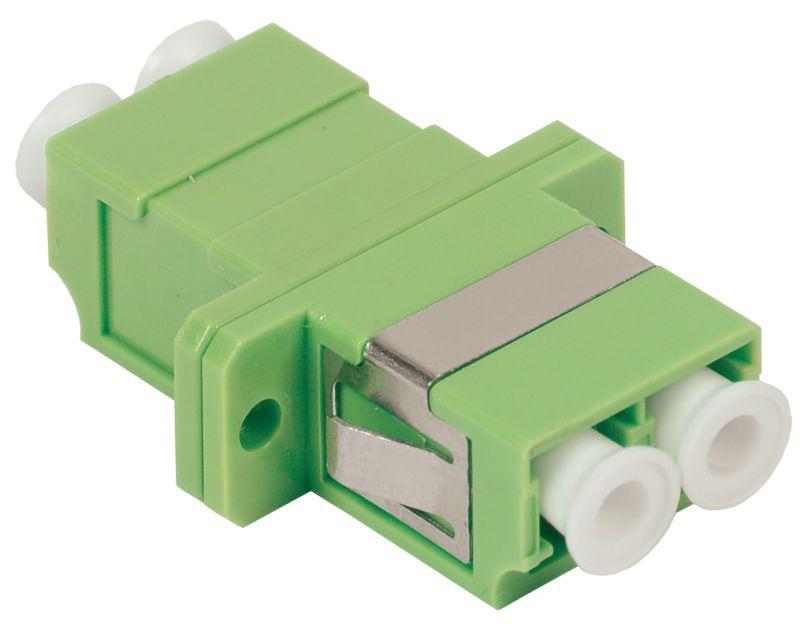 Фото Адаптер проходной LC-LC для одномодового и многомодового кабеля (SM/MM); с полировкой APC; двойного исполнения (Duplex) ITK FC1-LCALCA2C-SM