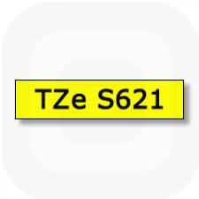Фото Лента Brother TZE-S621 (9 мм, черный на желтом) {TZES621} (1)