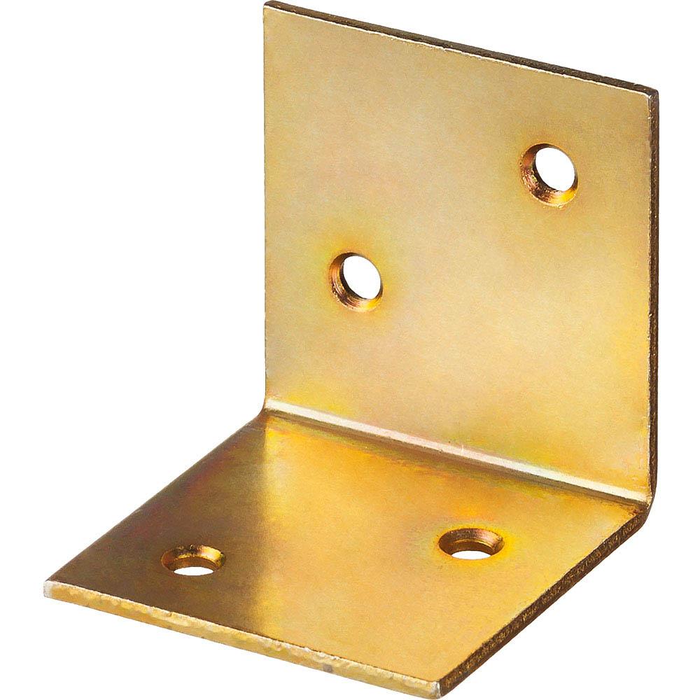 Фото Уголок мебельный широкий УМШ-2.0, 40х40х40 х 2мм, желтый цинк, ЗУБР {31033-40}