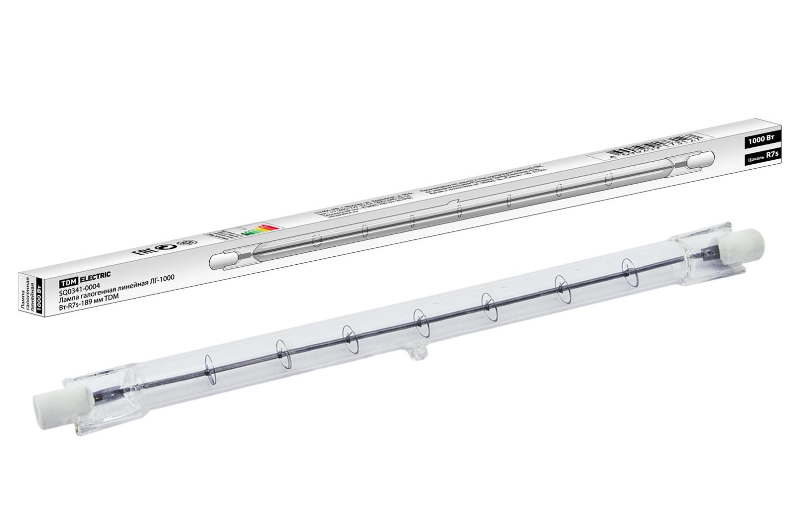 Фото Лампа галогенная линейная ЛГ-1000 Вт-R7s-189 мм TDM {SQ0341-0004}
