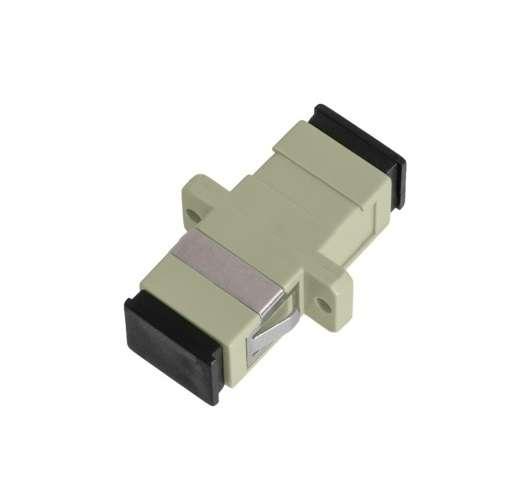Фото Адаптер волоконно-оптический соед. многомод. SC/UPC-SC/UPC одинарн. пласт. беж. (уп.2шт) NIKOMAX NMF-OA1MM-SCU-SCU-2