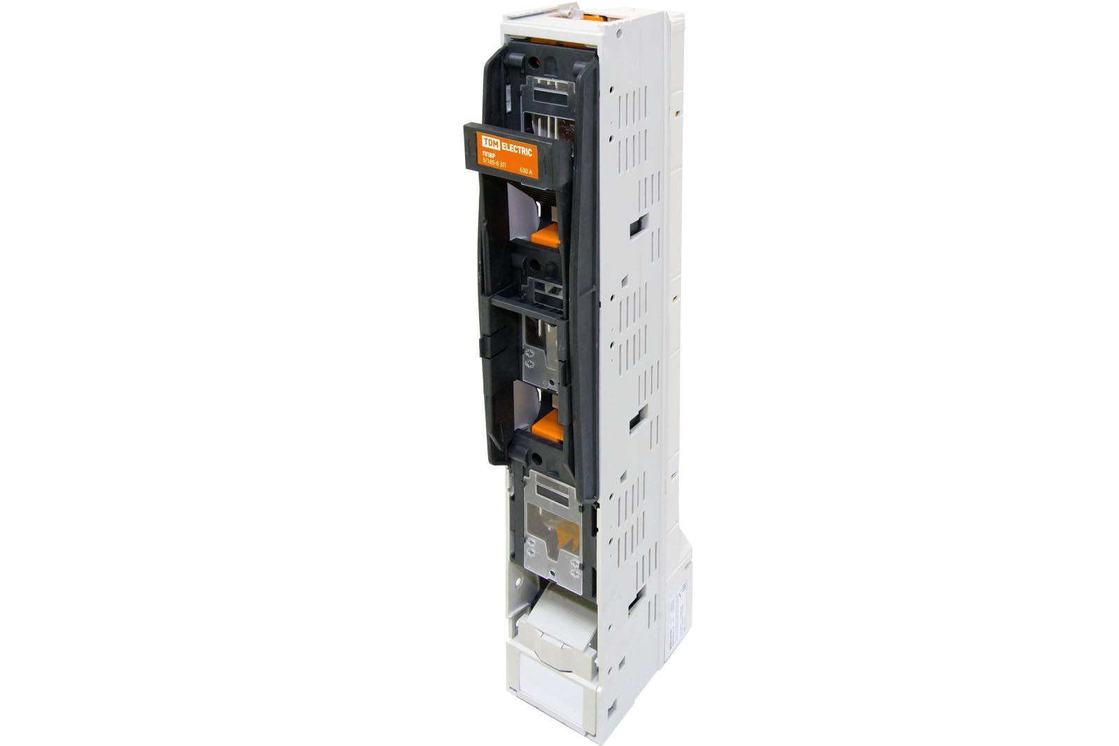 Фото Планочный выключатель-разъединитель с функцией защиты одна рукоятка ППВР 2/185-6 3П 400A TDM {SQ0726-0112}