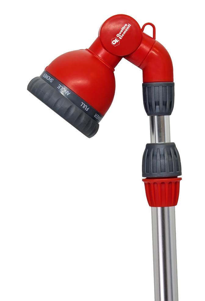 Фото Пистолет поливочный Quattro Elementi на телескопической штанге 90-120 см, 9-ти режимный, мягкий пластик {241-338} (5)