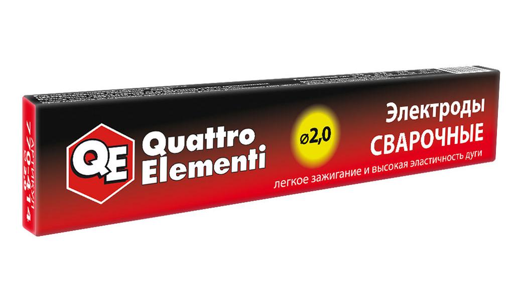 Фото Электроды сварочные Quattro Elementi рутиловые, 2.0 мм, масса 0.9 кг {770-414}