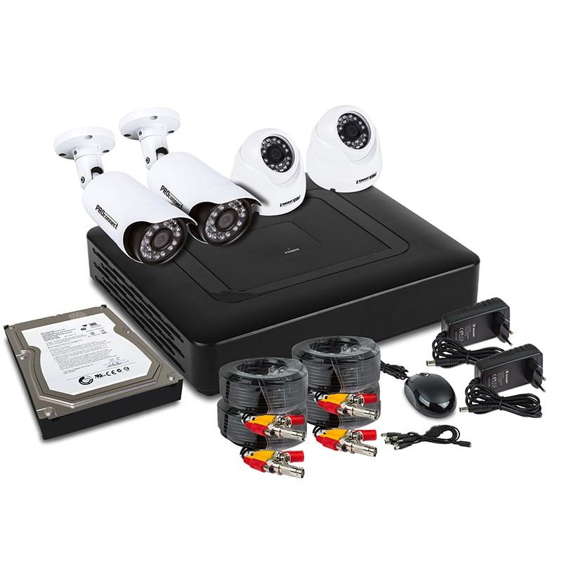 Фото Комплект видеонаблюдения PROconnect, 2 внутренние, 2 наружные Full HD камеры, с HDD 1Tб {45-0416}