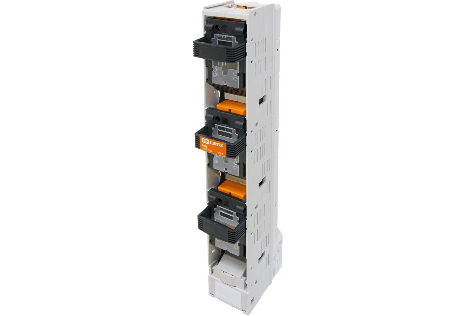 Фото Планочный выключатель-разъединитель с функцией защиты три рукоятки ППВР 1/185-1 3П 250A TDM {SQ0726-0111}