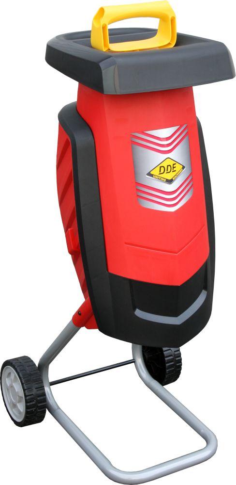 Фото Измельчитель садовый электрический DDE SH2540 Вомбат 2500 Вт, 3650 об/мин, до 40 мм, колеса, 11.9 кг {SH2540}