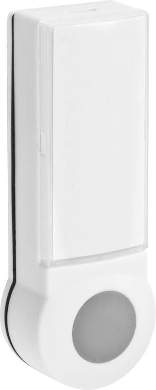 Фото Кнопка СВЕТОЗАР для звонка, с индикацией включения, цвет белый, 220В {58307}