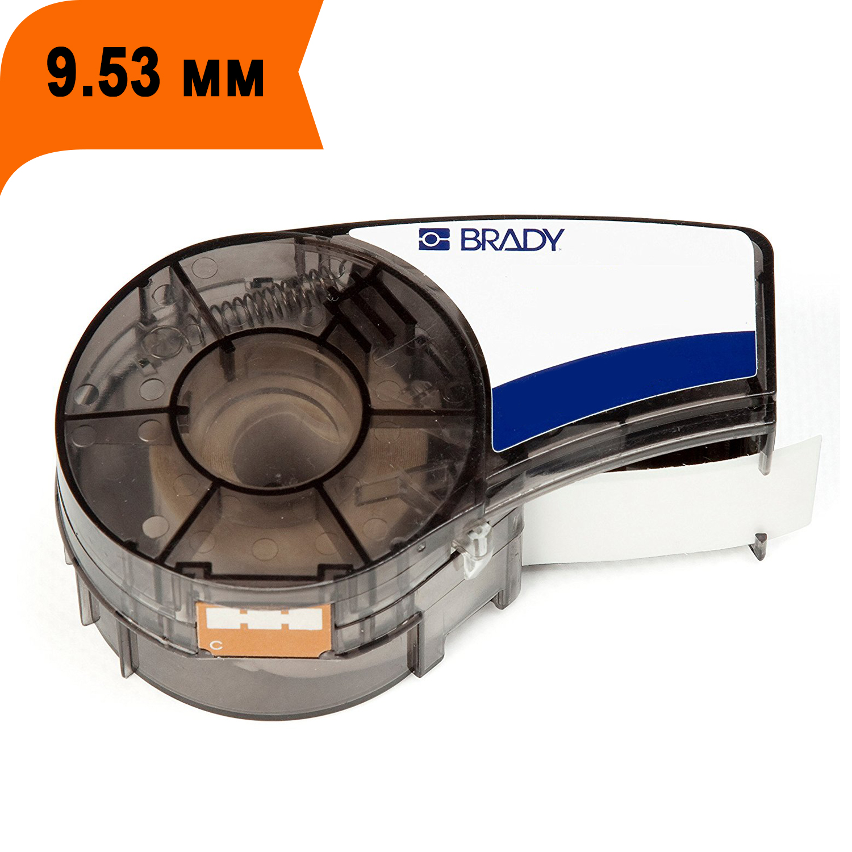 Фото Лента Brady M21-375-595-OR (M21-375-580-OR) (9.53 мм, черный на оранжевом) {brd142809}