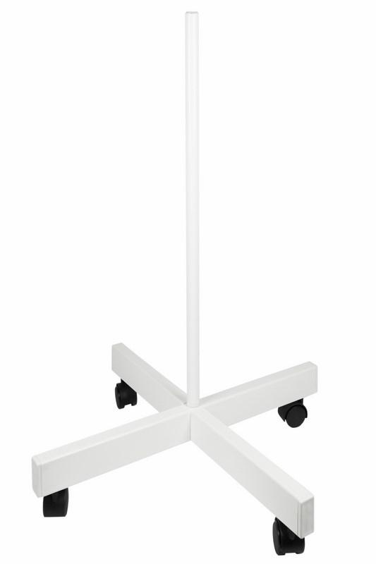 Фото Стойка напольная мобильная для луп с подсветкой Rexant, четырехлучевая, белая {31-0830}