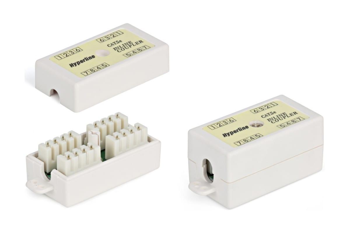 Фото Адаптер проходной (coupler) CA-IDC-C5e-WH Dual IDC кат.5e 4 пары Hyperline 23533