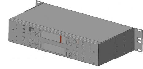 Фото Бокс оптический FO-19R-2U-6хSLT-W140H42-48UN-BK универс. 19дюйм от 8 до 48 портов (SC duplex LC ST FC) (со спайс. пласт. без пигтейлов. и прох. адапт. (1)