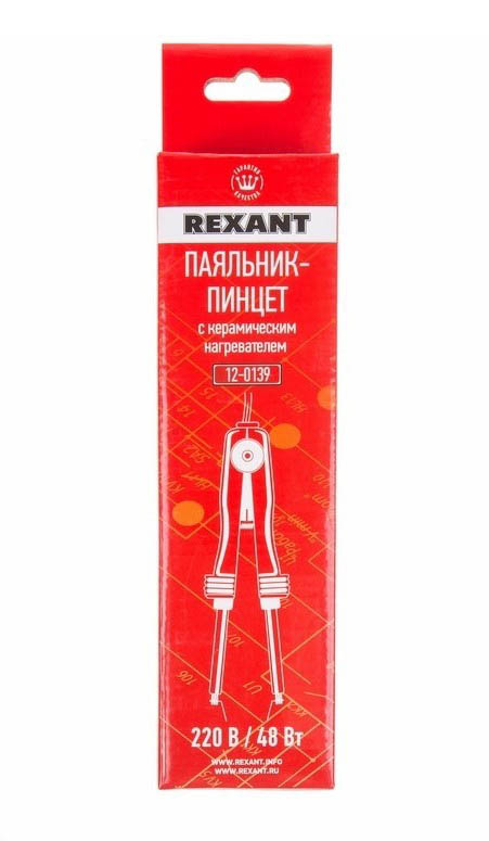 Фото Паяльник-пинцет Rexant с керамическим нагревателем 220 В / 48 Вт {12-0139} (3)