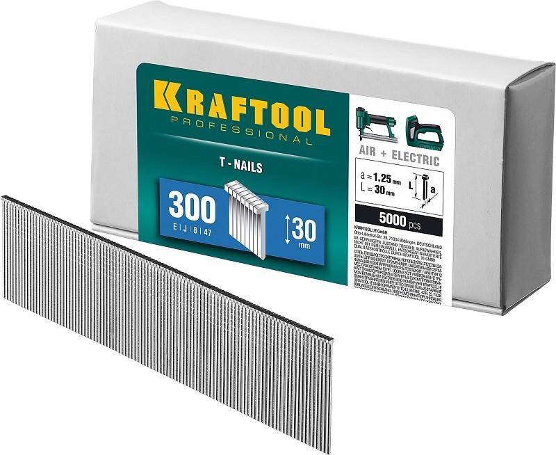 Фото KRAFTOOL 50  мм гвозди  для нейлера тип 300, 5000 шт {31785-50}