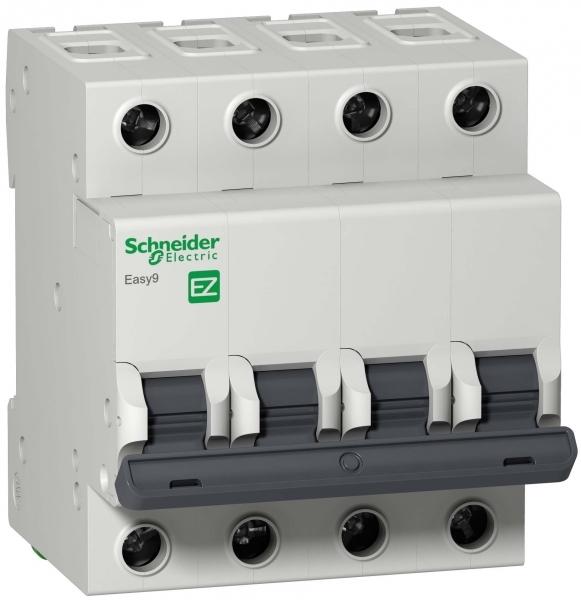 Фото Автоматический выключатель  EASY 9 4п 40а с 4,5ка 400в =S= {EZ9F34440}