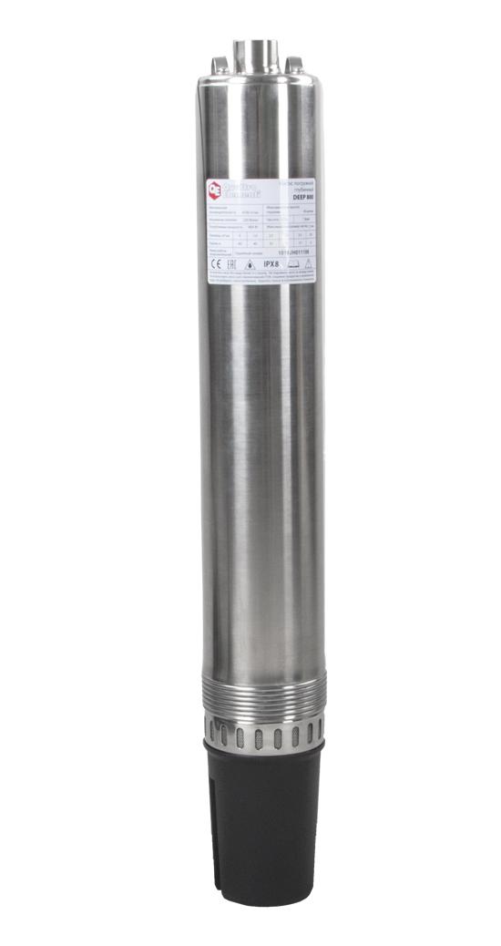 Фото Глубинный насос Quattro Elementi Deep 800 (800 Вт, 4700 л/ч, для чистой, 40 м, 10.3 кг, нержавеющий корпус, провод 20 м) {918-658}