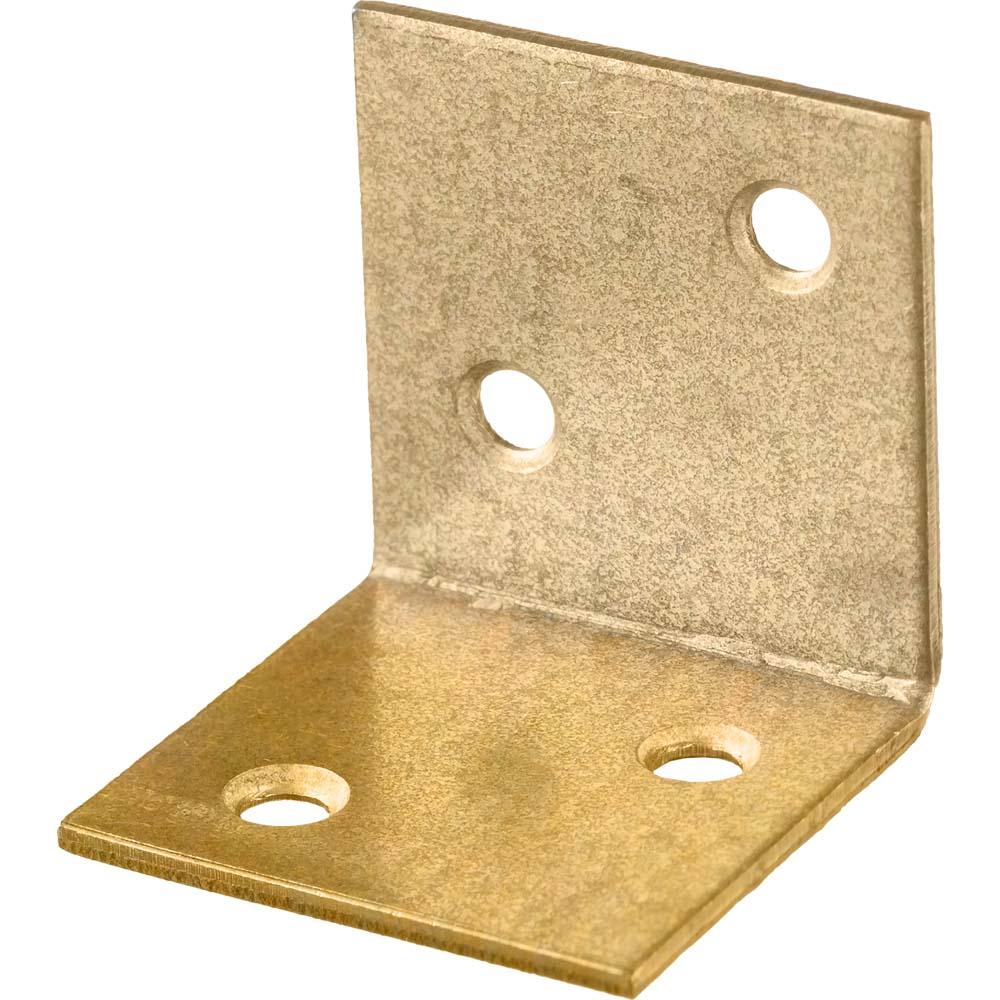 Фото Уголок мебельный широкий УМШ-2.0, 30х30х30 х 2мм, желтый цинк, ЗУБР {31033-30}