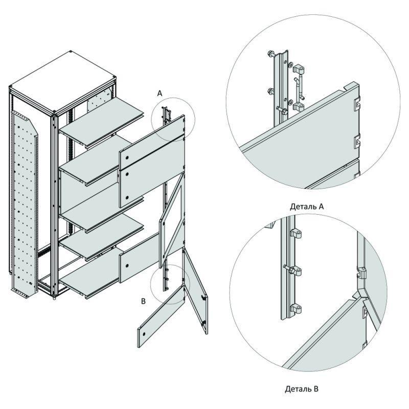 Фото Дверь внешняя модульная остекленная OptiBox M-600х1000 КЭАЗ 259210