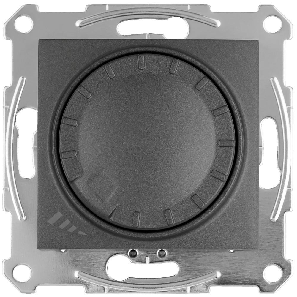 Фото Светорегулятор SEDNA LED повор-наж., прхдн, универс., 4-400 Вт, графит {SDN2201270}