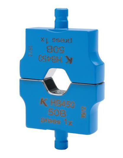 """Фото Матрица серии """"4"""" для трубчатых медных наконечников KLAUKE BC-типа 50 мм² (для уплотненных многопроволочных жил), шестигранник {klkHB450}"""
