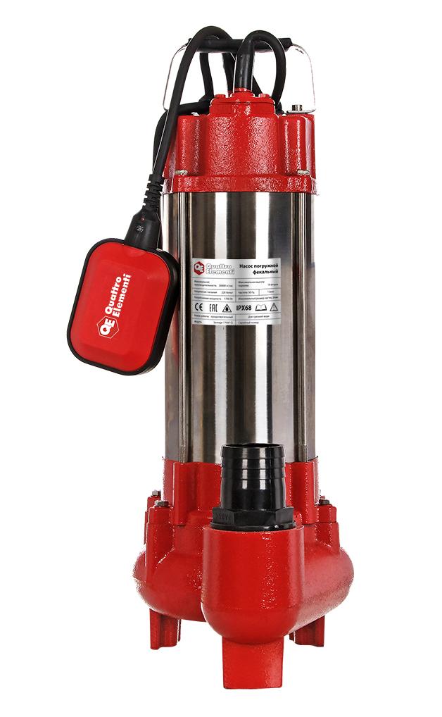 Фото Фекальный насос Quattro Elementi Sewage 1700F Ci (1700 Вт, 30000 л/ч, для грязной, 18 м, 22,0 кг) {910-188}