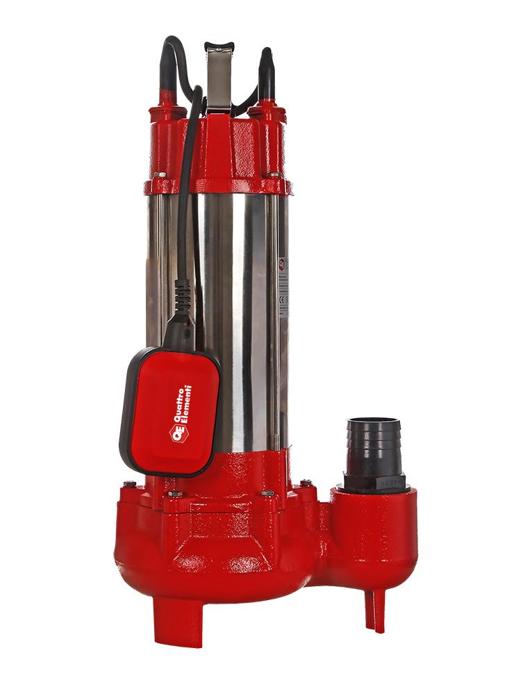 Фото Фекальный насос Quattro Elementi Sewage 1700F Ci (1700 Вт, 30000 л/ч, для грязной, 18 м, 22,0 кг) {910-188} (4)