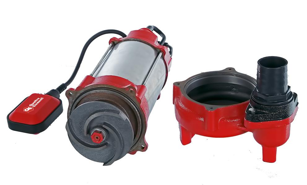 Фото Фекальный насос Quattro Elementi Sewage 1700F Ci (1700 Вт, 30000 л/ч, для грязной, 18 м, 22,0 кг) {910-188} (5)