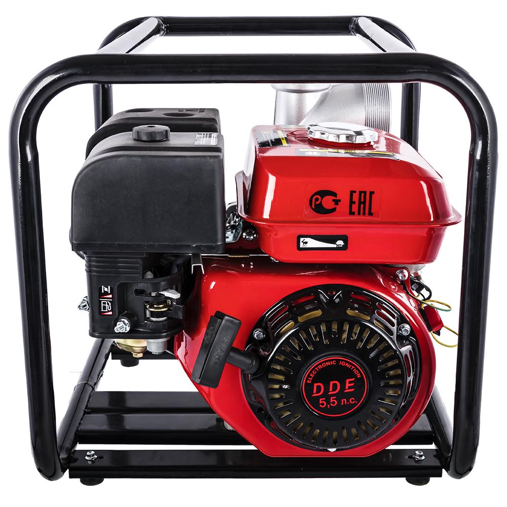 Фото Мотопомпа бензиновая DDE PN81 (выход 80 мм, 5.5 л.c, 32 м, 48 куб.м/час, 3,6 л, 26.5 кг) (2)