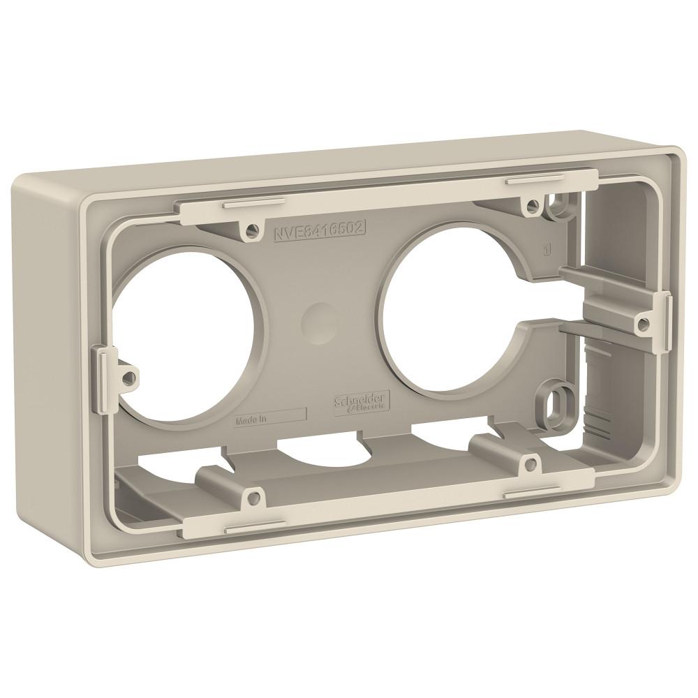 Фото Коробка для открытой установки UNICA NEW, 2-постовая, бежевый {NU800444}