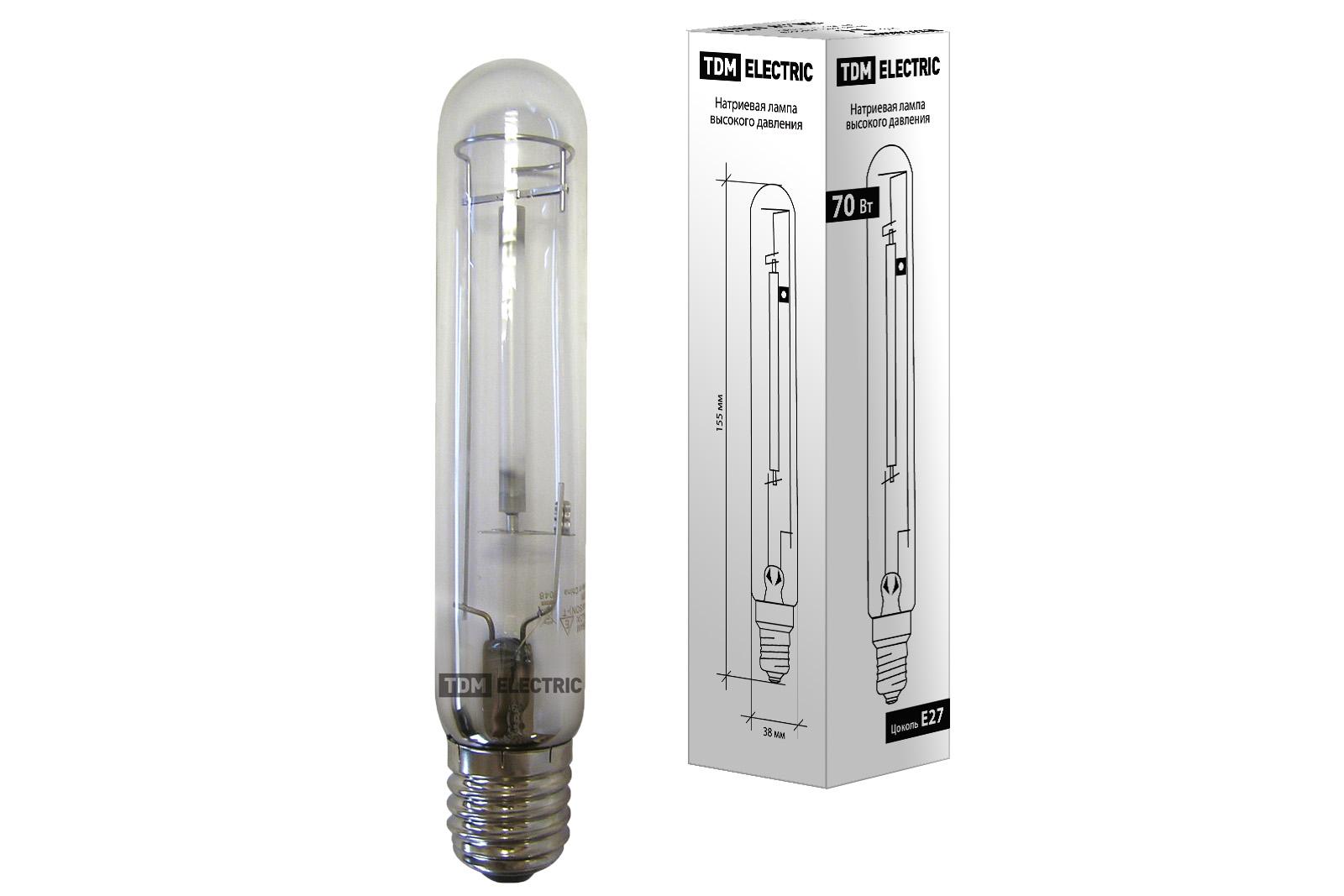 Фото Лампа натриевая высокого давления ДНаТ 70 Вт Е27 TDM {SQ0325-0001}