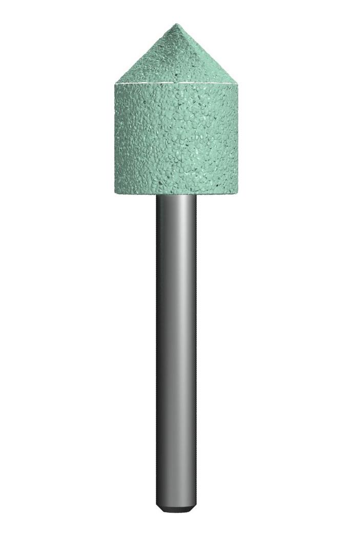 Фото Шарошка абразивная Практика, цилиндрическая заостренная 18х22 мм {641-336}