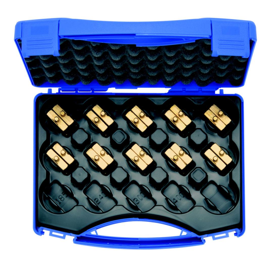"""Фото Комплект 10 матриц серии """"4"""" (для медных облегченных наконечников 6-150 мм²) в пластиковом кейсе {klkHR4SET}"""