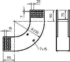 Фото Угол для лотка вертикальный 90град. 400х110 RBV 140 S FS OBO 7007322