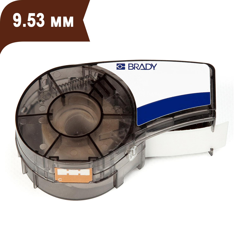 Фото Лента Brady M21-375-595-BR (9.53 мм, белый на коричневом) {brd139735}
